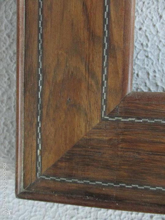 Antigüedades: Antiguo Marco - Isabelino - madera de jacarandá - para óleo, espejo - S. XIX - Foto 7 - 57949794