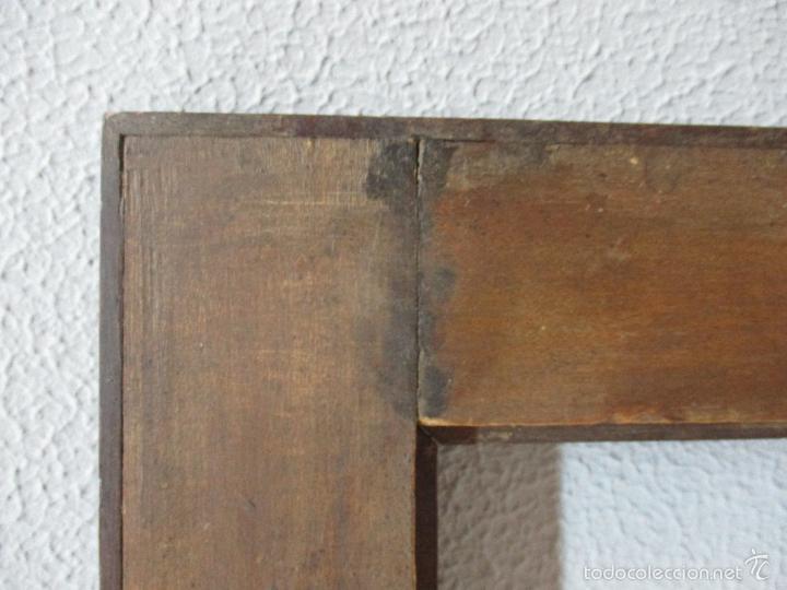 Antigüedades: Antiguo Marco - Isabelino - madera de jacarandá - para óleo, espejo - S. XIX - Foto 11 - 57949794