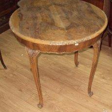 Antigüedades - Mesa comedor restaurada nogal - 57950924