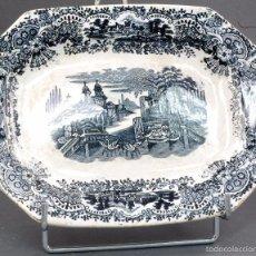 Antigüedades: FUENTE CARTUJA PICKMAN SERIE VISTAS SEMI CHINA FINALES XIX. Lote 57952754