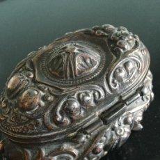 Antigüedades: JOYERO COFRE DE BRONCE. Lote 56923420