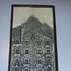 Antigüedades: CUADRO TABLA DE LA CASA BATLLÓ. Lote 57959379