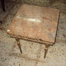 Antigüedades: MESA AUXILIAR ESTILO IMPERIO MÁRMOL. Lote 57962433