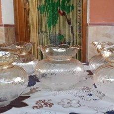 Antigüedades: ANTIGUAS TULIPAS PARA LAMPARA. Lote 57965889