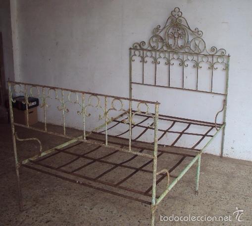 Cama plegable en forja comprar camas antiguas en todocoleccion 57969588 - Cama plegable ...