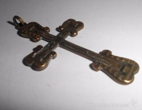 Antigüedades: Crucifijo en bronce - Foto 2 - 57977271