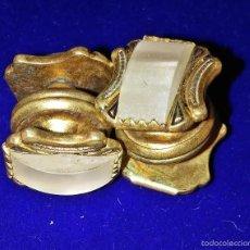 Antigüedades: ANTIGUOS GEMELOS DORADOS. Lote 57977746