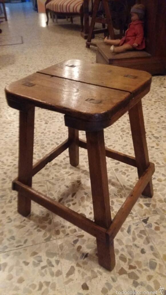 Taburete r stico de masia comprar muebles auxiliares - Taburetes rusticos ...