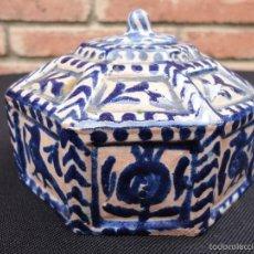 Antigüedades: CERÁMICA ANDALUZA: TINTERO DE FAJALAUZA (GRANADA). Lote 57991077