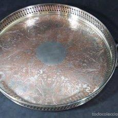 Antigüedades: BANDEJA O CENTRO DE MESA EN SILVERPLATE DE LA MARCA W M. ROGERS. Lote 57995064