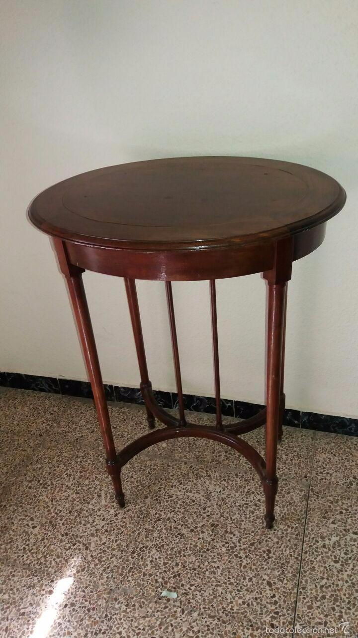 Antigua mesa modernista alta madera comprar mesas - Mesas antiguas ...