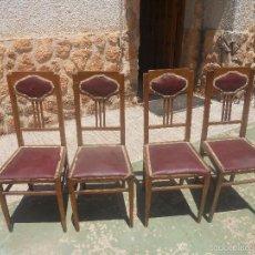Antigüedades: JUEGO DE 4 SILLAS ANTIGUAS. Lote 57998586