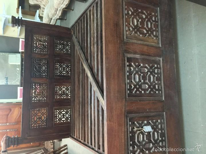 Antigüedades: espectacular cama caoba 170x190 con somier, maciza , cabecero y piecero macizo - Foto 3 - 57999954