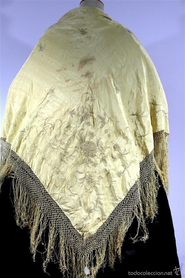 Antigüedades: Antiguo mantón isabelino. - Foto 7 - 58007640