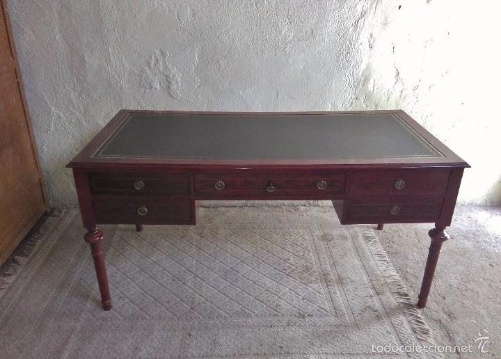 Mesa de despacho antigua madera de cerezo estil comprar for Precio mesa de despacho