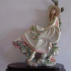 Antigüedades: FIGURA DE SOBREMESA - DAMA DECIOCHESCA LEYENDO . Lote 58067221