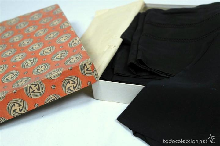 Antigüedades: Lote pañuelos de luto - Foto 2 - 58072558