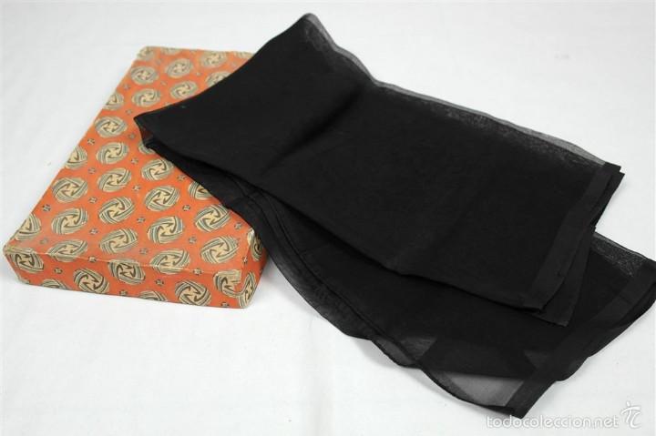 Antigüedades: Lote pañuelos de luto - Foto 3 - 58072558