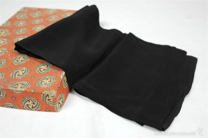 Antigüedades: Lote pañuelos de luto - Foto 4 - 58072558