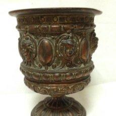 Antigüedades: ANTIGÜA COPA CÁLIZ EN BRONCE. Lote 58085149