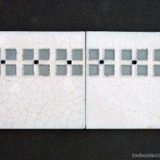 Antigüedades: 2 AZULEJOS MODERNISTA. RELIEVES 15,2 X 15,2 CM. VALENCIA. AÑOS 20.. Lote 58089700