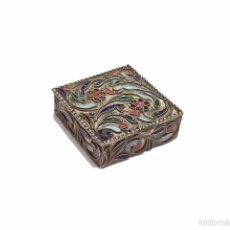 Antigüedades: ANTIGUA CAJITA EN PLATA FILIGRANA ESMALTADA EN RELIEVE - S.XX. Lote 51426950