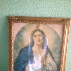 Antigüedades: CUADRO VIRGEN ANTIGUA. Lote 58090978