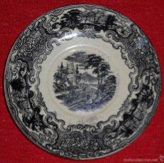 Antigüedades: ANTIGUO PLATO DE PORCELANA DE LA SERIE VISTAS DE LA CARTUJA PICKMAN - 17 CM.. Lote 58112683