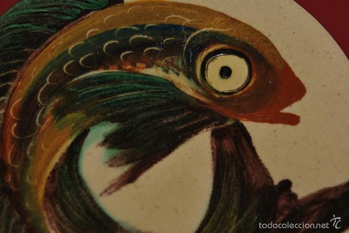Antigüedades: PLATO DE CERÁMICA DE LA BISBAL - PEZ - FIRMADO PUIGDEMONT - Foto 3 - 219169106