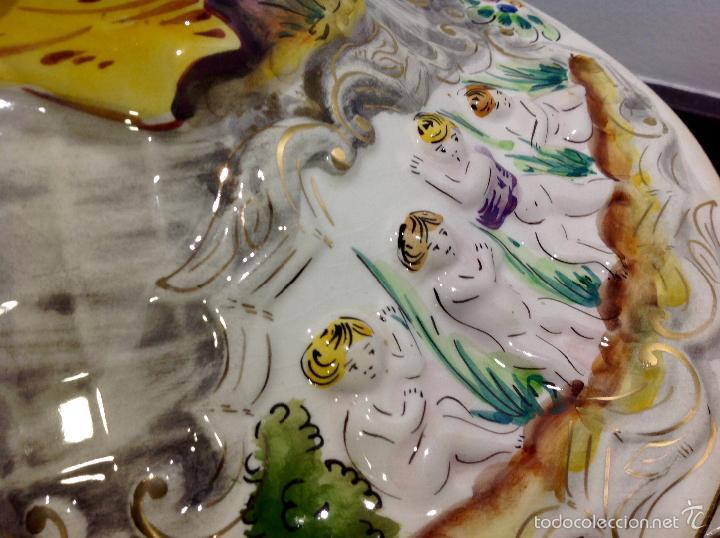 Antigüedades: Sopera portuguesa de gran tamaño, pintada a mano y con dorados. Pereiras valado Portugal - Foto 19 - 58120385