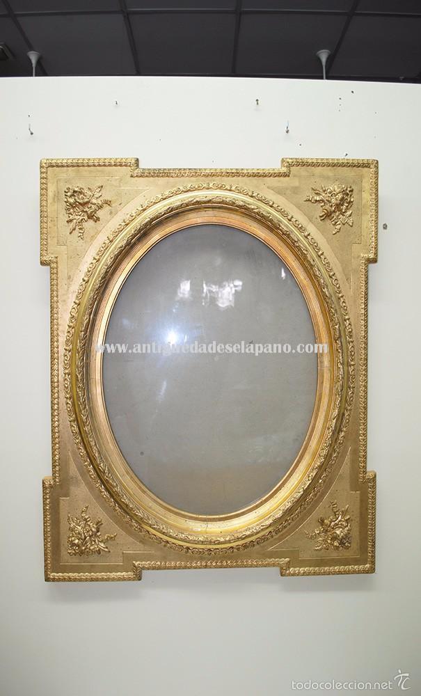precioso marco antiguo de madera y pan de oro - Comprar Marcos ...