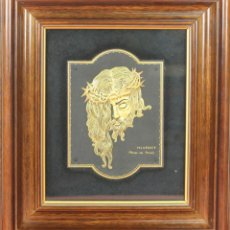 Antigüedades: I2-045. CRISTO DE VELAZQUEZ. DAMASQUINADO SOBRE METAL PAVONADO. SIGLO XX. . Lote 58130681