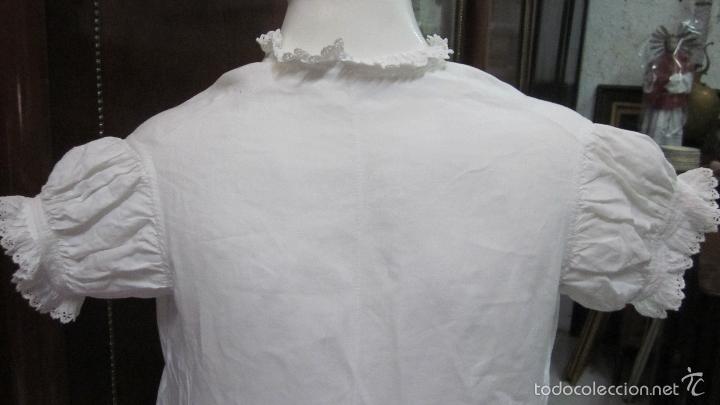Antigüedades: Antiguo camisón de fino hilo ideal para vestido - Foto 2 - 58131488