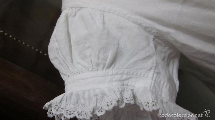 Antigüedades: Antiguo camisón de fino hilo ideal para vestido - Foto 3 - 58131488