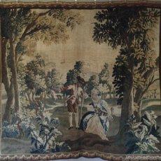 Antigüedades: IMPORTANTE TAPIZ AUBUSSON, SERIE AMUSEMENTS CHAMPÊTRES, SIGLO XVIII, GRAN TAMAÑO. Lote 58131530