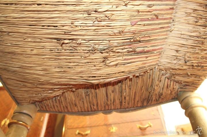 Antigüedades: TRESILLO EN MADERA DE PINO POLICROMADO. ESTILO BARROCO. ESPAÑA. AÑO 1850. - Foto 15 - 58131607