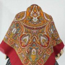 Antigüedades: PAÑUELO DE LANA ESTAMPADO. Lote 180266223