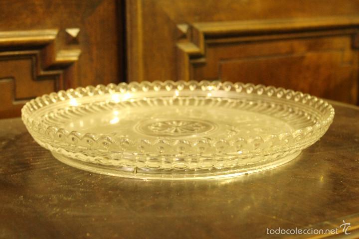 Antigüedades: PLATO CRISTAL BACCARAT 28 cms de diametro - Foto 5 - 58135572