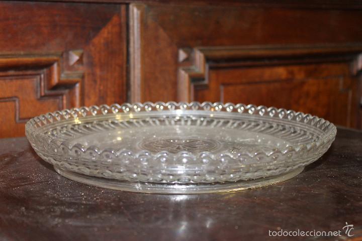 Antigüedades: PLATO CRISTAL BACCARAT 28 cms de diametro - Foto 6 - 58135572