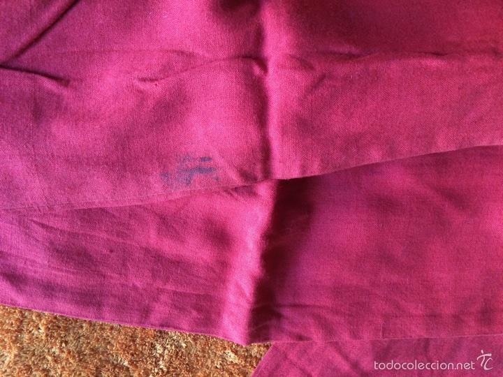 Antigüedades: Fajín de tela de algodón con flecos - Foto 3 - 58138124