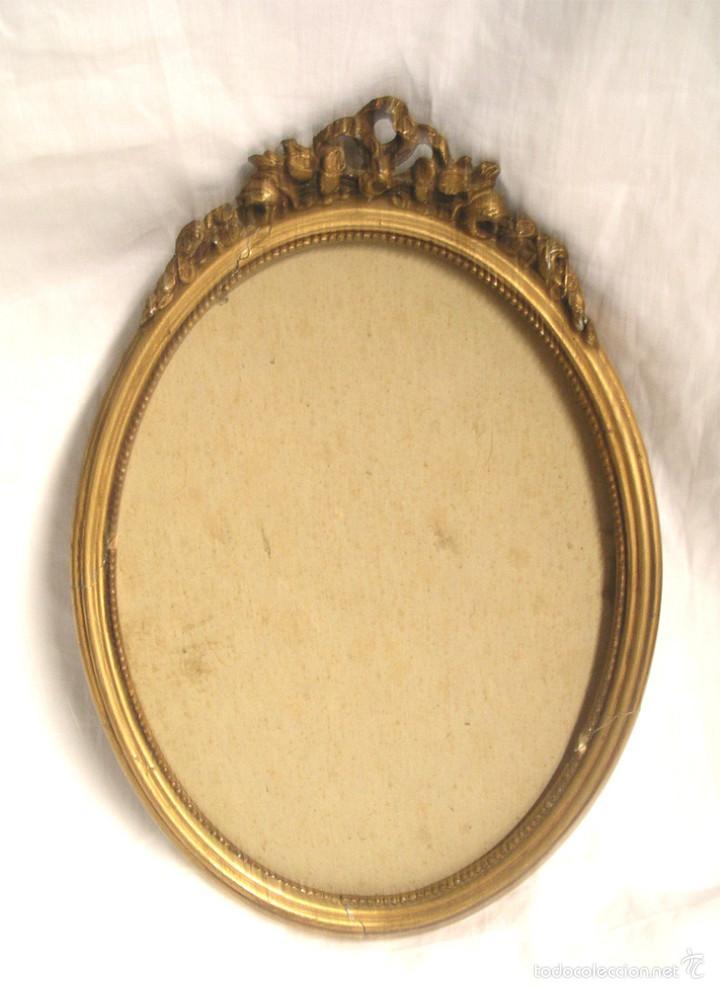 marco ovalado época isabelina, madera tallada p - Comprar Marcos ...
