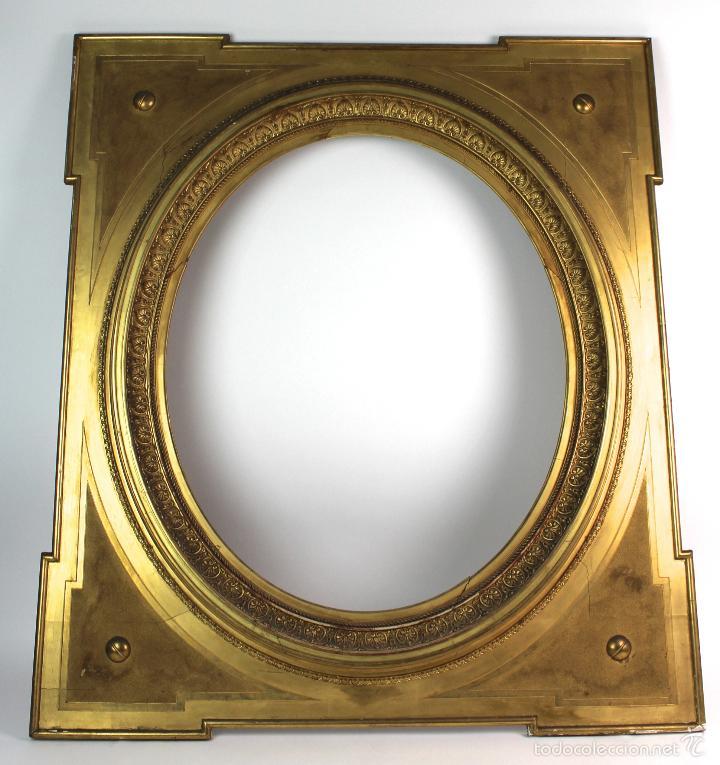 marco dorado ovalado, s.xix. - Comprar Marcos Antiguos de Cuadros en ...