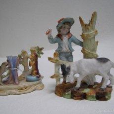 Antigüedades: PAREJA DE PORCELANAS CON ANIMALES. Lote 58152624