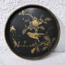 Antigüedades: ANTIGUA BANDEJA ORIENTAL. S.XIX. MADERA LACADA.. Lote 58153907