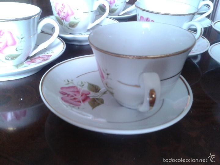 Antigüedades: ANTIGUAS 10 TAZAS CON PLATOS, DE CAFE. - Foto 6 - 93764697