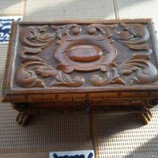 Antigüedades: CAJA DE MADERA ANTIGUA, COFRE, JOYERO. Lote 58159269