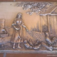 Antigüedades: PLACA EN ALTO RELIEVE MODELO REGISTRADO. Lote 58159889