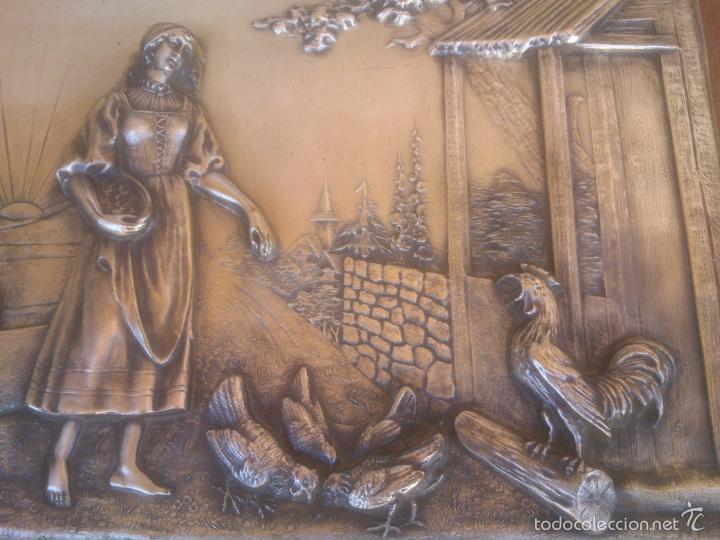 Antigüedades: PLACA EN ALTO RELIEVE MODELO REGISTRADO - Foto 3 - 58159889