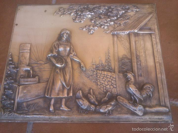 Antigüedades: PLACA EN ALTO RELIEVE MODELO REGISTRADO - Foto 4 - 58159889