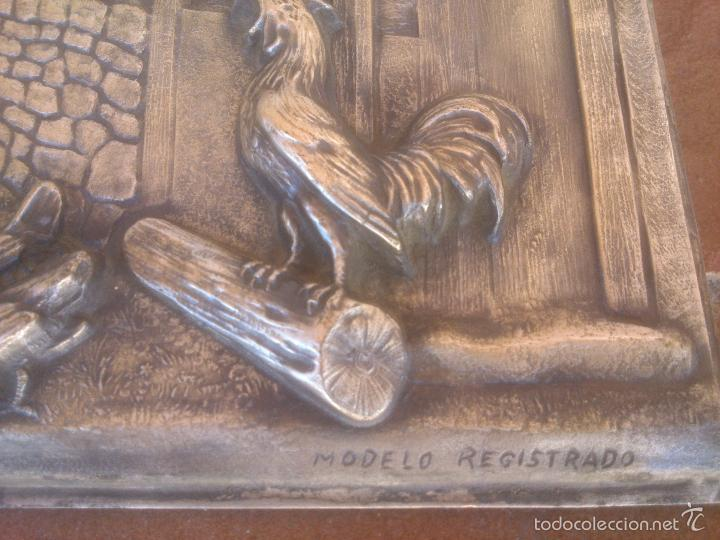 Antigüedades: PLACA EN ALTO RELIEVE MODELO REGISTRADO - Foto 5 - 58159889